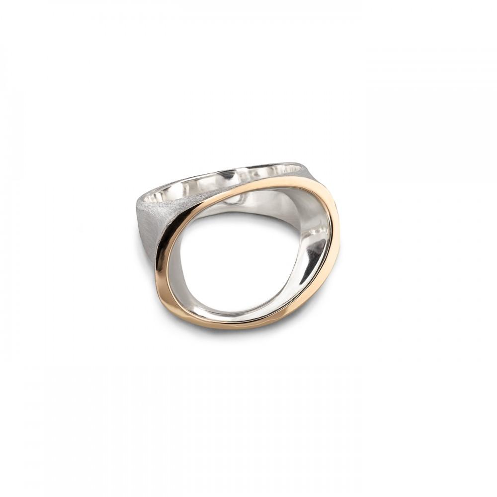 Ositis - sidabro ir aukso žiedas