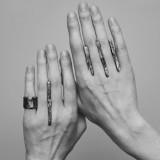 Tersiis - oksiduoto sidabro žiedas