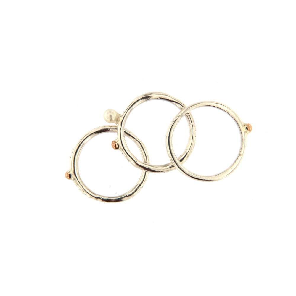 ,,Žiedų puokštė'' (Perlas, Auksas 585, Sidabras 925 )